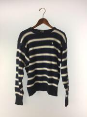 ポロラルフローレン/セーター/Size:160cm/コットン/ネイビー/ボーダー/刺繍/ワンポイント/ロコ