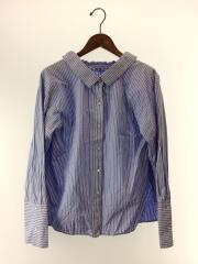 ルシェルブルー/フォールバックボリュームシャツ/36/コットン/BLU/ストライプ/ブルー/20S63322