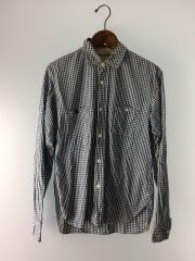 エフオービーファクトリー/長袖シャツ/F3208/ギンガムチェックシャツ/M/コットン/BLU/青/チェック