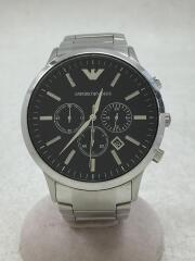 エンポリオアルマーニ/クォーツ腕時計/AR2460/アナログ/ステンレス/シルバー/クロノグラフ