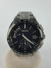 セイコー/ブライツ/ソーラー腕時計/8B63-0AA0/アナログ/ステンレス/BLK/黒/シルバー/メンス