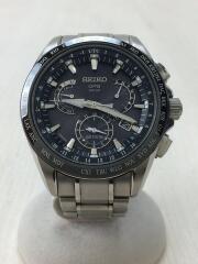 セイコー/ソーラー腕時計/8X53-0AB0-2/アナログ/ステンレス/BLK/黒/SLV/シルバー/アスト