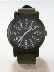 タイメックス/クォーツ腕時計/アナログ/ナイロン/KHK/カーキ/メンズ/ミリタリーバンド/カジュアル/