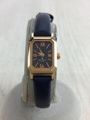 ケイトスペードニューヨーク/クォーツ腕時計/KSW1026/アナログ/レザー/NVY/NVY/ネイビー