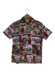 アロハシャツ/S/--/RED/総柄/MH-S804/Hawaiian Shirt Col.090