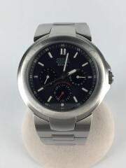 クォーツ腕時計/アナログ/ステンレス/BLK/WATERPRO