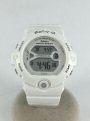 クォーツ腕時計・Baby-G/デジタル/ラバー/WHT