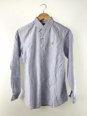 長袖シャツ/160cm/コットン/BLU/ストライプ