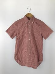 半袖シャツ/S/コットン/RED/チェック