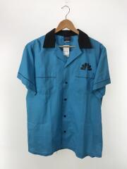 ボーリングシャツ/半袖シャツ/L/コットン/BLU