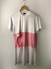 Tシャツ/S/コットン/WHT// 素材切り替え PE-T003