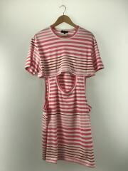 Tシャツ/M/コットン/PNK/ボーダー//  PE-T004