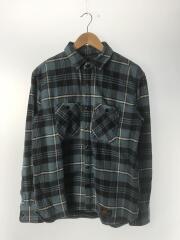 ネルシャツ/M/コットン/BLU/チェック