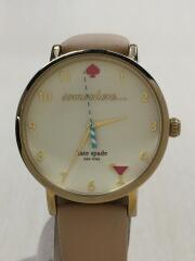 クォーツ腕時計/アナログ/レザー/CRM