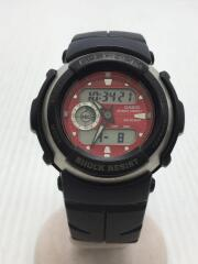 クォーツ腕時計・G-SHOCK/デジアナ/ラバー/RED/BLK