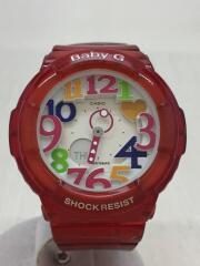 クォーツ腕時計・Baby-G/デジアナ/WHT/RED