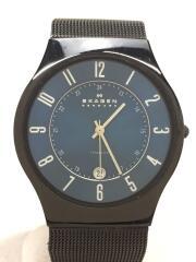 クォーツ腕時計/アナログ/ステンレス/BLU/BLK