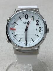 クォーツ腕時計/アナログ/ラバー/WHT/WHT/N851/