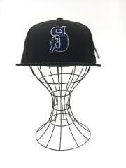 キャップ/7 1/2/ウール/BLKタグ付/STUSSY VINTAGE S NEW ERA CAP/131953