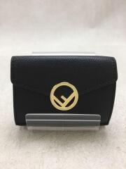 FENDI/3つ折り財布/レザー/ユニセックス/エフィズフェンディ/マイクロミニウォレット
