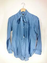 Needles/アスコットカラーシャツ/ボウタイ/長袖シャツ/1/コットン/BLU/無地