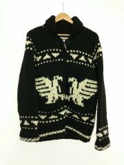 セーター(厚手)/--/ウール/ブラック/黒/中古