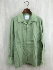 20SS/asaシャツ/長袖シャツ/M/リネン/GRN/グリーン/luz2001304a0003/