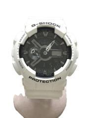 クォーツ腕時計・G-SHOCK/デジアナ/WHT/WHT/GA-110GW
