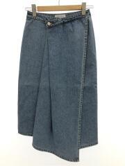 スカート/36/デニム/BLU