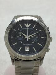 クォーツ腕時計/アナログ/--/NVY/SLV