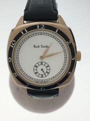 ポールスミス/クォーツ腕時計/アナログ/レザー/WHT/BLK