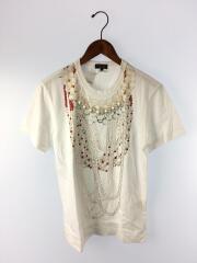 コムデギャルソンオムプリュス/Tシャツ/S/コットン/WHT//  PE-T502