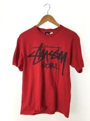ステューシー/Tシャツ/M/コットン/RED