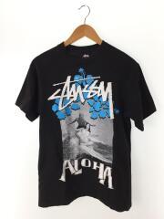 ステューシー/Tシャツ/M/コットン/BLK