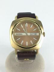 ディーゼル/クォーツ腕時計/アナログ/レザー/BRW/BRW