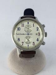 クォーツ腕時計/アナログ/--/WHT/BRW