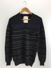 セーター(厚手)/1/ウール/GRY/総柄/sacai