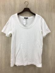 コムデギャルソン/オムプリュス/Tシャツ/M/コットン/ホワイト/使用感加工/PS-T016