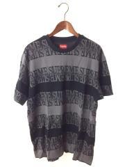 Tシャツ/XL/コットン/BLK/ボーダー