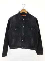 スタジオセブン/Gジャン/M/コットン/グレー/SEVENBack Caution Denim Jacket/デニムジャケット  70864084