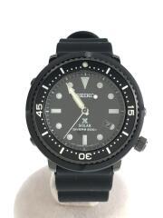 セイコー/クォーツ腕時計/アナログ/ラバー/ブラック/ブラック/中古