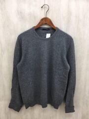 セーター(薄手)/50/ウール/GRY/無地