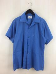 半袖シャツ/L/コットン/ブルー/DECTON/60s/オープンカラー