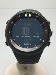 クォーツ腕時計/デジタル/ラバー/ブラック/黒/SS014279010/CORE/