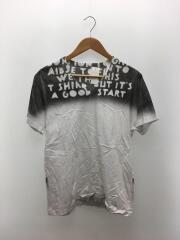 Tシャツ/M/コットン/ホワイト/白/エイズ/グラデーション