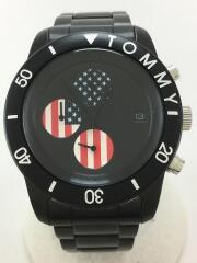 TOMMY/トミー/クォーツ腕時計/アナログ/ステンレス/ブラック/黒