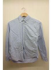 ボタンダウンオックスフォードシャツ/USA製/GKG-6078/S/コットン/ブルー/無地