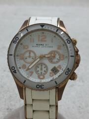 クォーツ腕時計/アナログ/ステンレス/WHT/WHT