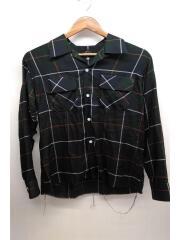 19ss/Cut Off Bottom Classic Shirt/長袖シャツ/XS/グリーン/EJ159