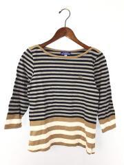 Tシャツ/38/コットン/GRY/ストライプ